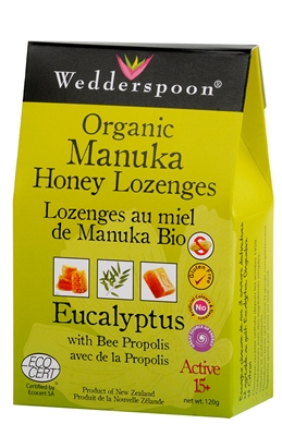 Manuka Honey Lozenges with Eucalyptus & Bee Propolis