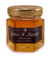 Honey Favours from Ontario, Canada: 60g Hex Jars with label designs
