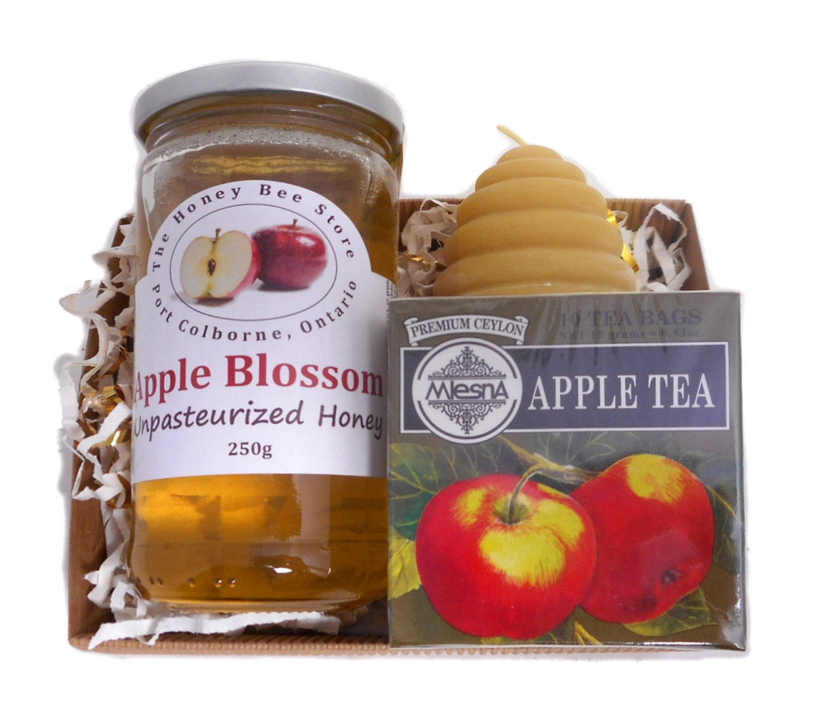 Canadian Apple Honey Holiday Gift Set Perfect Gift For A Honey Lover This Beautiful Truly Canadian Gift Set By The Honey Bee Store Includes Unpasteurized Canadian Apple Honey 250 G