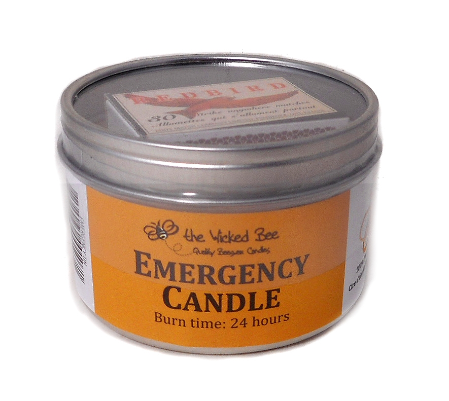 PURE BEESWAX EMERGENCY TIN CANDLE