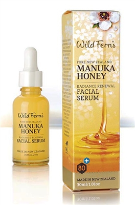 Manuka Honey Radiance Renewal Facial Serum by wild ferns, Canada Ontario. The Honey Bee Store