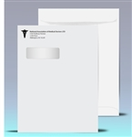 9 x 12 Printed Catalog Window Envelopes, 1 color print (Black), # 21040P