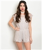 Dusty Pink Lace Romper