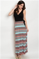 Black Multi Color Maxi Dress