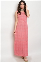 Red Ivory Maxi Dress