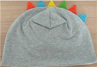 Grey and White Stripe Hat