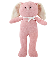 Pink Bunny Knit Rattle