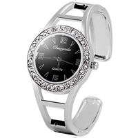Quartz Bracelet Watch with Cubic Zirconia Accents