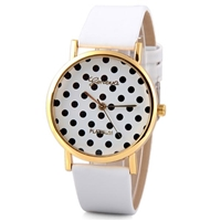 White Geneva Quartz Watch