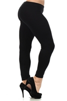 Black Solid Plus Size Legging