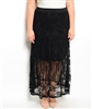 Black Lace Plus Size Skirt