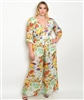 Ivory Multi Floral Plus Size Jumpsuit
