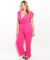 Fucshia Plus Size Jumpsuit