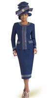 2pc Navy Jacket and Skirt Suit