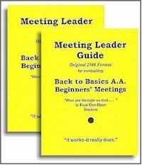 Back to Basics Meeting Leader Guides (2 Guides using the Original Format)