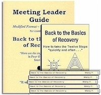 Back to the Basics of Recovery Meeting Leader Guide and 10 Back to the Basics of Recovery Books