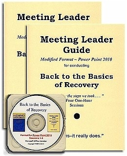 2 Back to the Basics of Recovery Meeting Leader Guides + Power Point CD