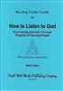 How to Listen to God Meeting Leader Guide