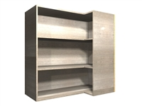 90 degree CORNER adjustable shelf wall cabinet (RIGHT side return)