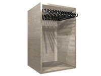"Closet Pants Pullout Rack Cabinet (18"" wide hamper, 19.50"" wide cabinet)"