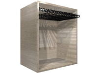 "Closet Pants Pullout Rack Cabinet (24"" wide hamper, 25.50"" wide cabinet)"