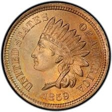 1860 Indian Head Penny Type 2