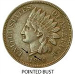 1860 Indian Head Penny Type 1
