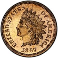 1867 Indian Head Penny