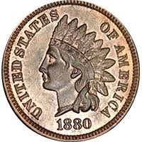 1880 Indian Head Penny