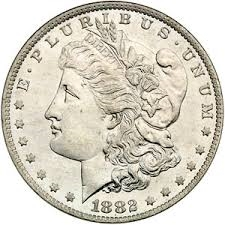 1882 Morgan Silver Dollars