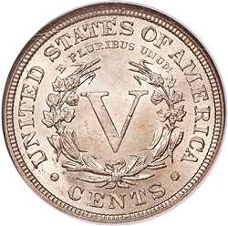 1883 With Cents Liberty V Nickel