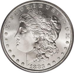 1883 Morgan Silver Dollars