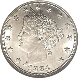 1884 Liberty Head Nickel