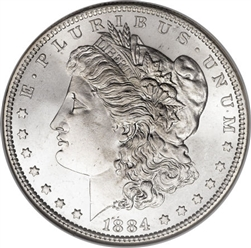 1884 Morgan Silver Dollars