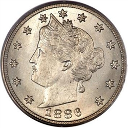 1886 Liberty Head V Nickel
