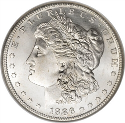 1886 Morgan Silver Dollars
