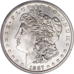 1887 Morgan Silver Dollars