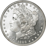 1888 Morgan Silver Dollars