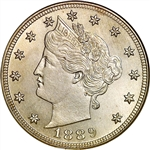 1889 Liberty Head V Nickel