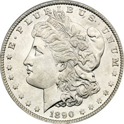 1890 Morgan Silver Dollars