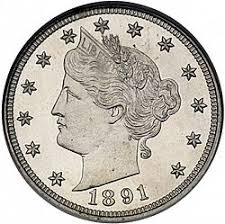 1891 Liberty Head V Nickel