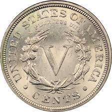 1892 Liberty V Nickel About Good AG