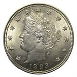 1893 Liberty Head V Nickel