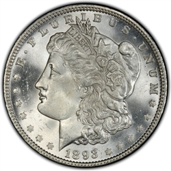 1893 Morgan Silver Dollars