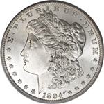1894 Morgan Silver Dollars