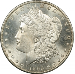 1895 Morgan Silver Dollars