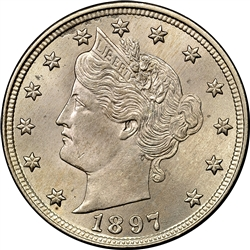 1897 Liberty Head V Nickel