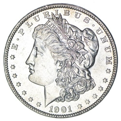 1901 Morgan Silver Dollars