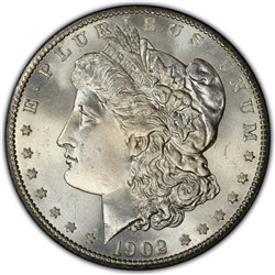 1902 Morgan Silver Dollars