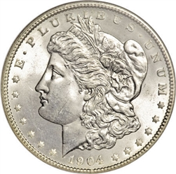 1904 Morgan Silver Dollars